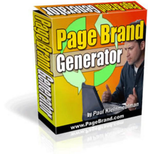 Product picture *New* Page Brand Generator (MRR) 2011
