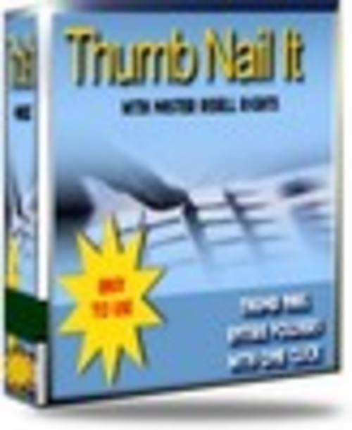 Product picture *NEW*ThumbNail It now With Master Resale Rights.2011
