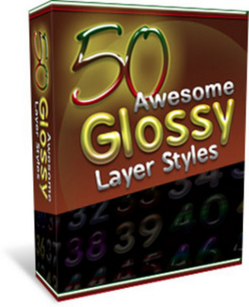 Product picture *NEW* 50 Glossy Layer Styles 2011
