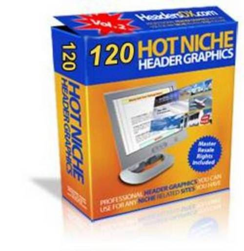 Product picture *NEW* 120 Hot niche headers Graphics With Private Label 2011