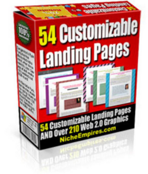 Product picture *NEW* Clean Landing Page Templates with PLR 2011